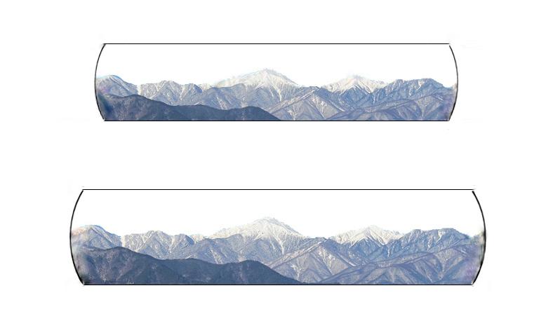 結婚指輪のデザイン画に、松本市から見える北アルプスの山並みをキャプチャーした