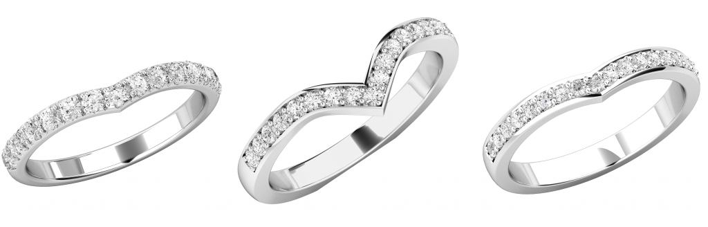 Vラインの結婚指輪セットリング