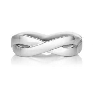 デビアス男性結婚指輪・インフィニティリング幅5mm