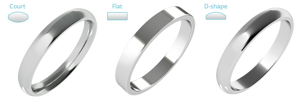 プレーンなストレートの結婚指輪