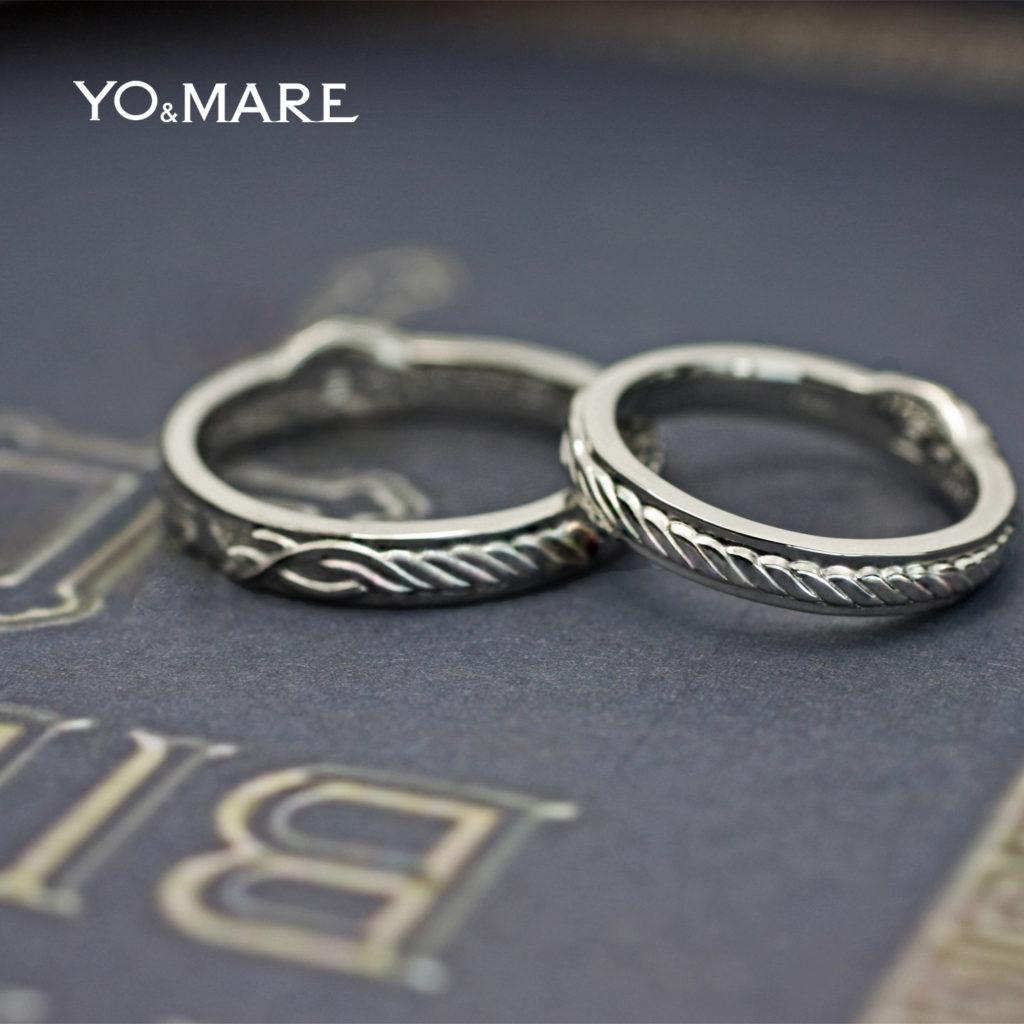 聖書の言葉からデザインした3本のより糸の結婚指輪オーダー作品