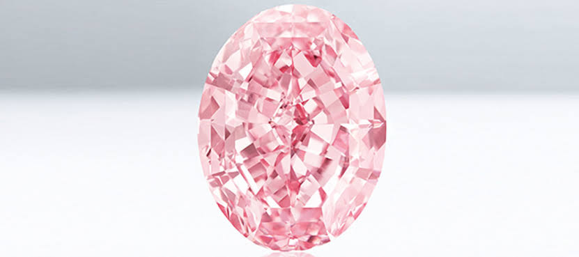 オーバルカットのピンクダイヤモンド
