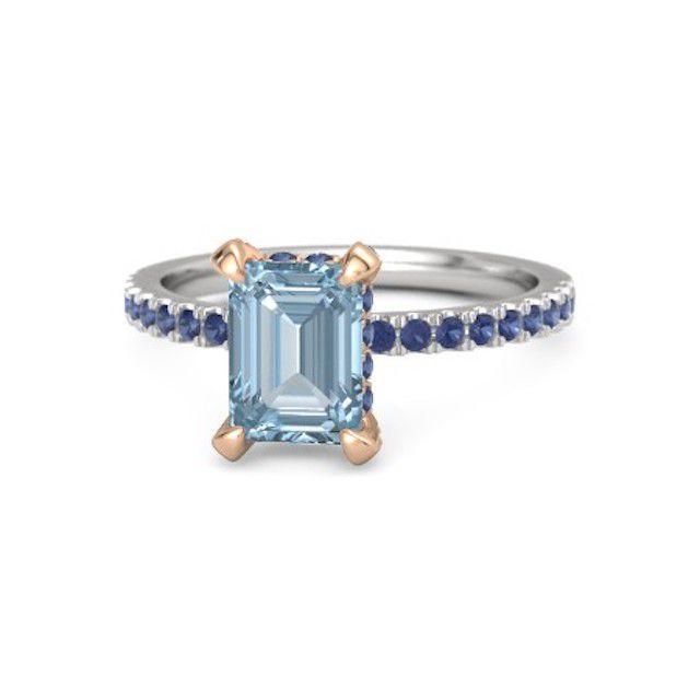 ジェムバラ・アクアマリンの婚約指輪