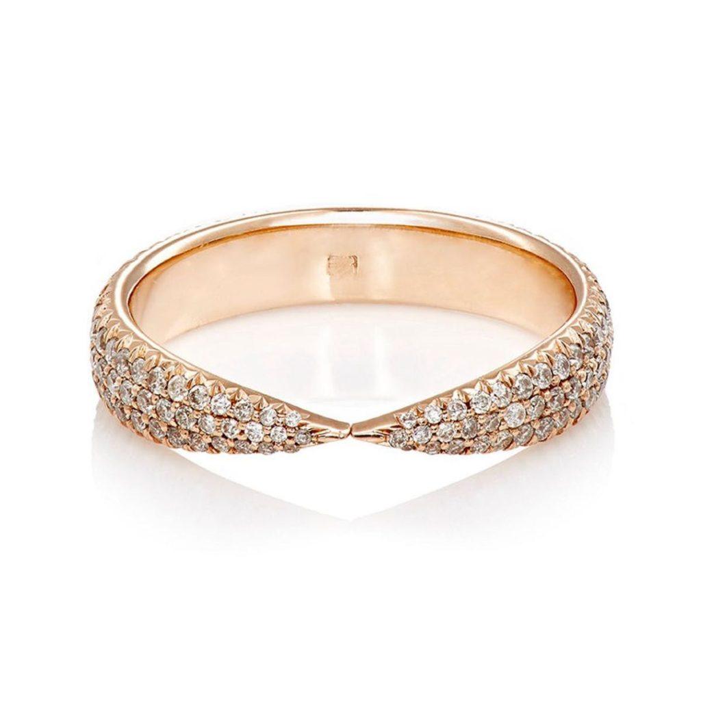 ピンクゴールド&パヴェダイヤモンドリング