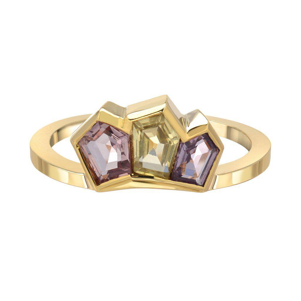 ピリオド・サファイアクラスター婚約指輪