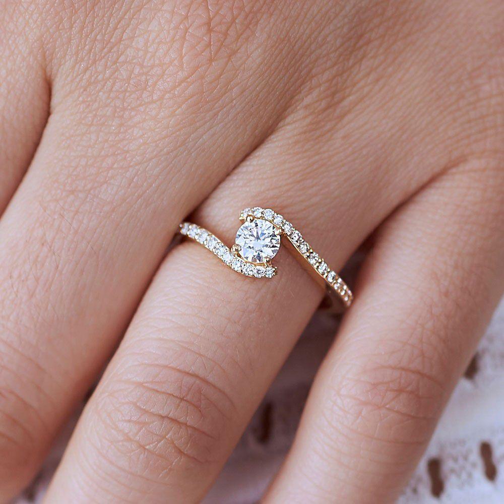 爪のないテンション留めダイヤのオーダー婚約指輪!最新デザイン15