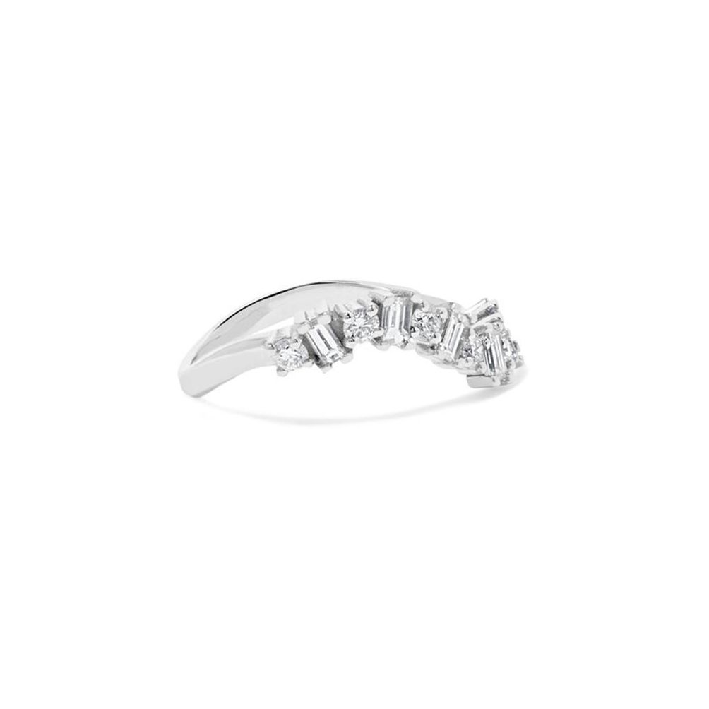 イリアナマクリ・バゲットダイヤモンドのウェーブリング
