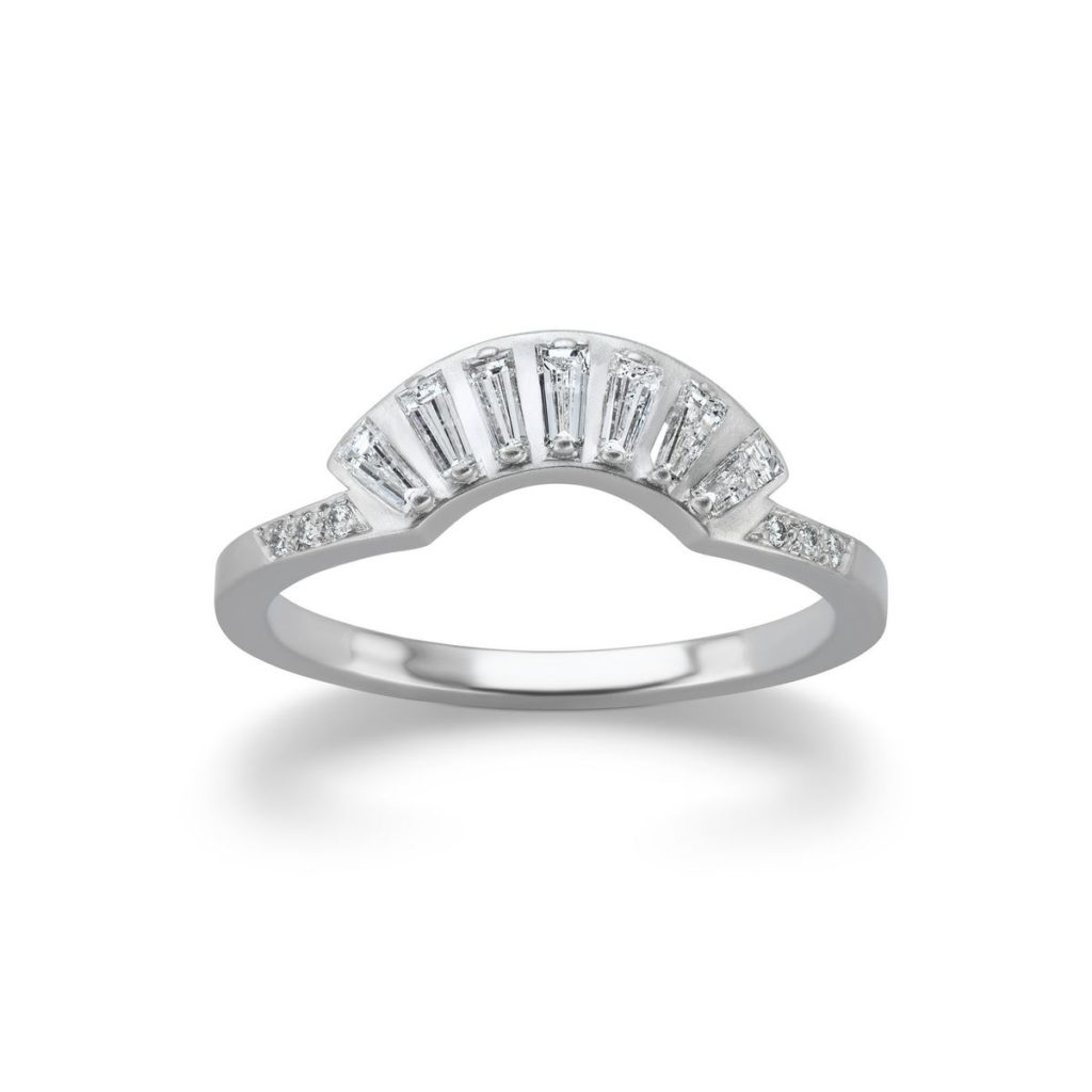 ミシェルファンタジー・バゲットダイヤの扇子ファンデザイン結婚指輪