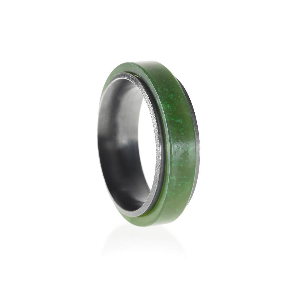 トッドリード・翡翠とシルバーの結婚指輪