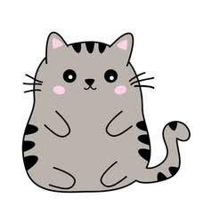 結婚指輪にデザインする太めのネコのイラスト