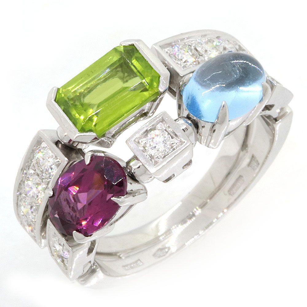 3つのカラー宝石を使ったファッションリング 2