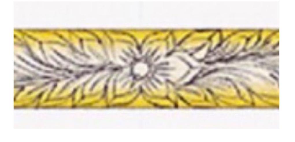 結婚指輪の内側に入れる花の模様サンプル
