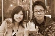 ピンクゴールド&プラチナを2;1で合わせた結婚指輪  M様 千葉・柏