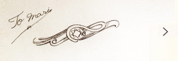 ト音記号のダイヤモンドエンゲージ・婚約指輪のデザイン画像