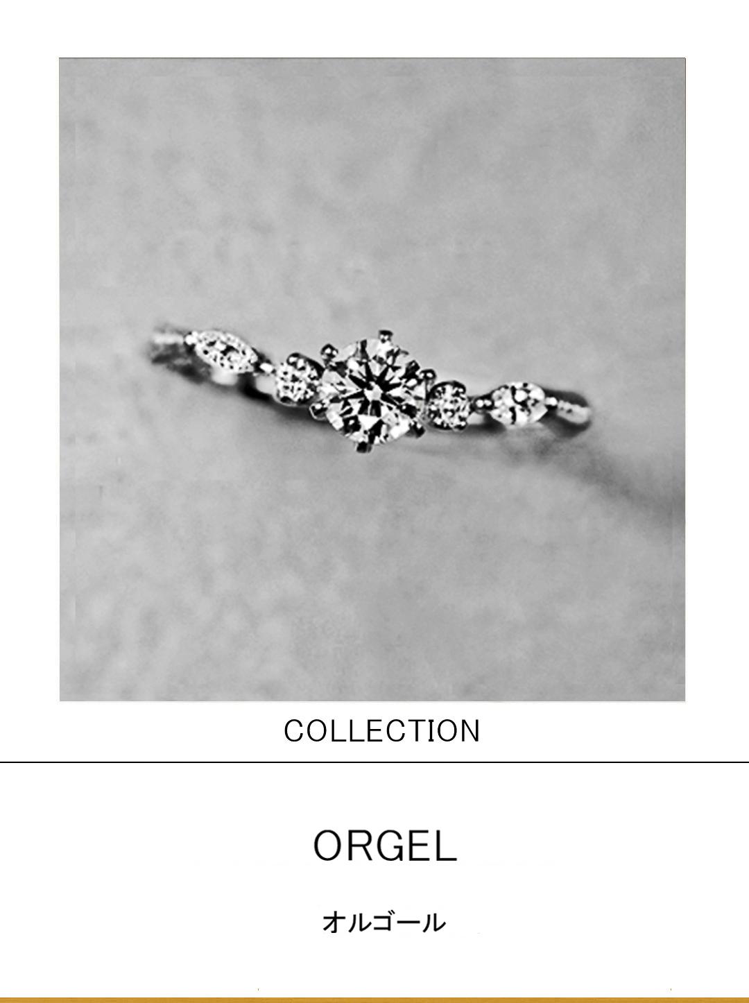 オルゴールからイメージデザインされた婚約指輪プラチナコレクションのサムネイル