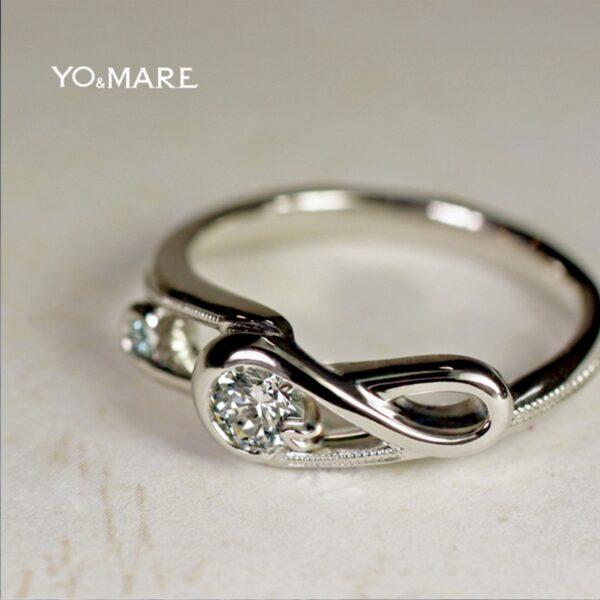 【ト音記号・音符をデザイン】したダイヤモンドの婚約指輪作品