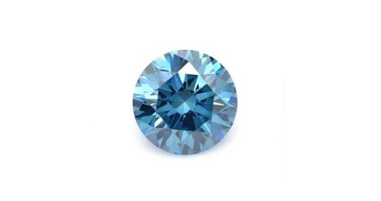 結婚指輪の内側に入れるブルーダイヤモンド