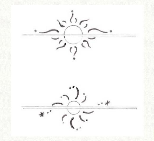 結婚指輪を重ねて太陽をつくるデザイン画