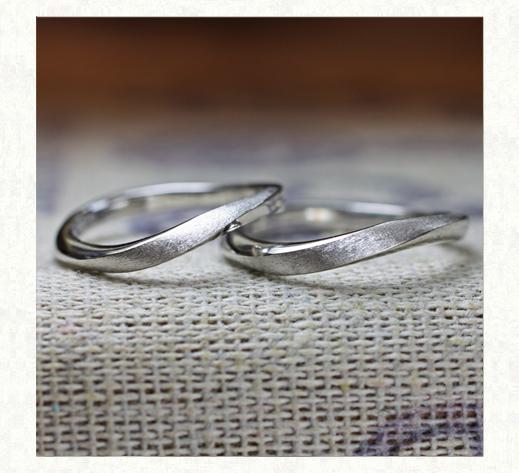 美しいメビウスの様な ウェーブデザインの結婚指輪 2 千葉・柏 ヨー&マーレ