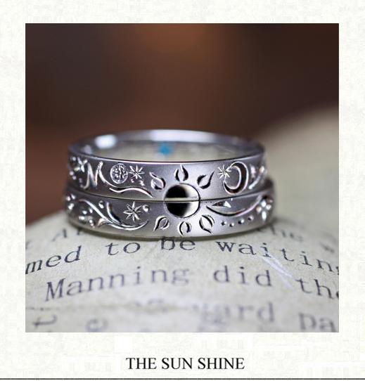 ふたりの結婚指輪でつくった太陽の輝き・オーダーメイド作品