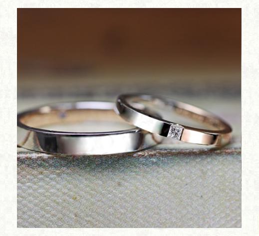 ピンクゴールドとプラチナの ハーフ&ハーフの結婚指輪2|千葉・柏 ヨー&マーレの新作日記