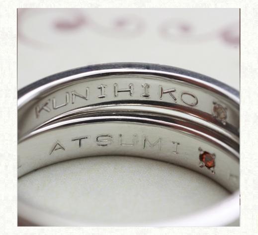 パライバ・トルマリンが輝く結婚指輪の内側刻印|千葉・柏 ヨー&マーレの新作日記