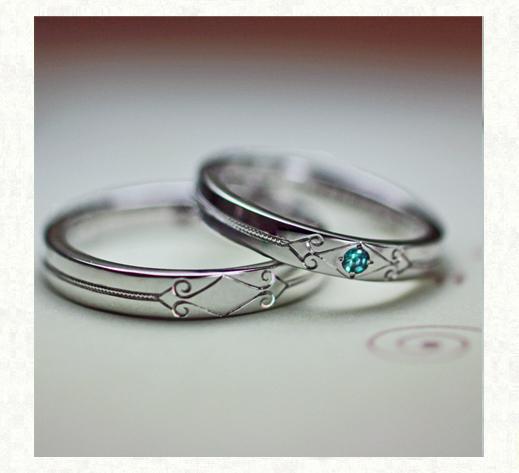 パライバ・トルマリンが輝く結婚指輪2|千葉・柏 ヨー&マーレの新作日記