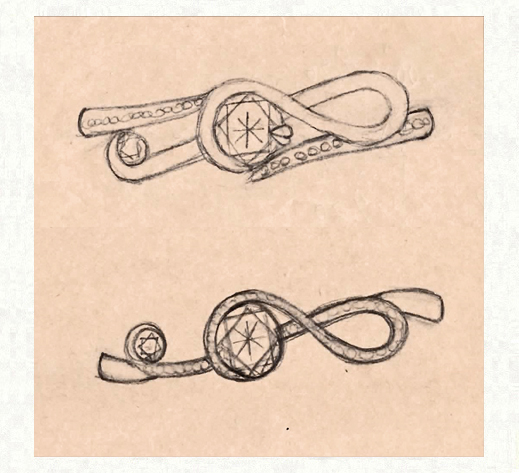 ト音記号リングのデザイン画像