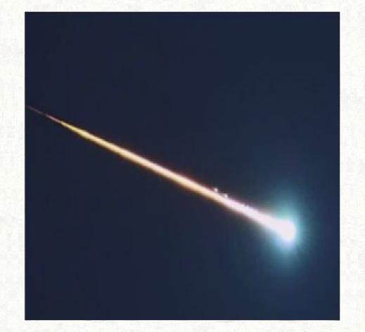 流れ星の写真