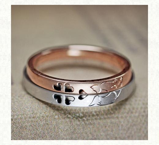 ネコのカップルが見つめあう結婚指輪 2|千葉・柏 ヨー&マーレの新作日記