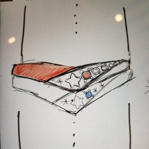 お客様が描いたリングのデザイン画