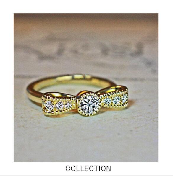 リボンデザインの婚約指輪コレクション