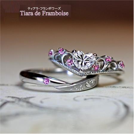 I様が千葉・柏本店で作ったティアラデザインの婚約指輪