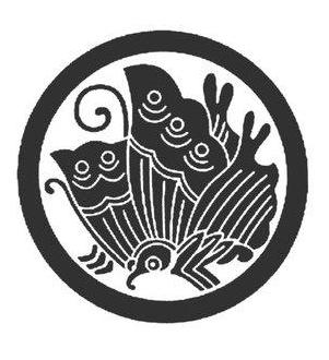 『 丸に揚羽蝶 』と言う名前の 家紋