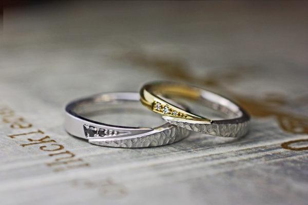 スネークデザインの結婚指輪を 個性的にアレンジしたオーダーリング