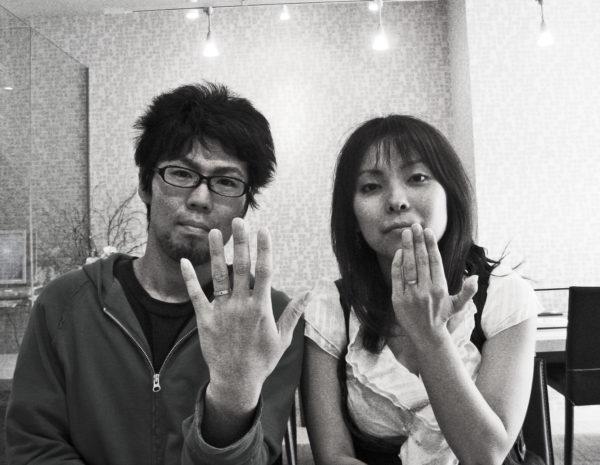 ホワイトキャットとブラックキャットの結婚指輪  M様・千葉 柏