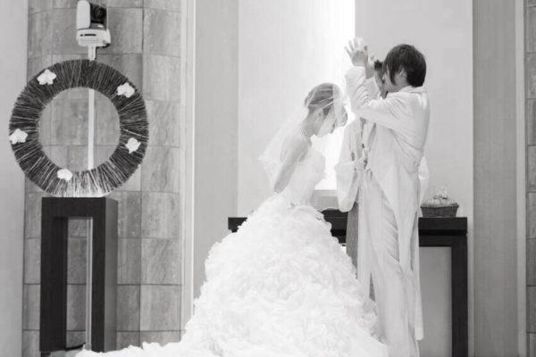 結婚式の花・べールアップの花嫁  S様 千葉・柏