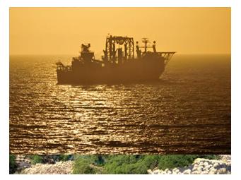 ナミビアのダイヤ採掘船