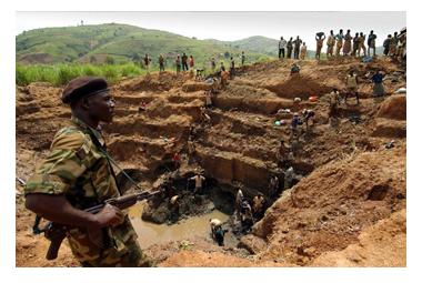 コンゴの紛争地域で採掘されるブラッドダイヤモンド
