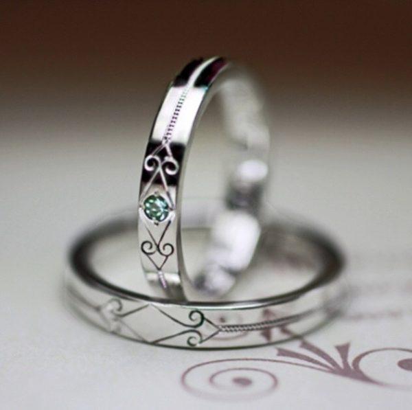 パライバトルマリンの結婚指輪オーダーメイド