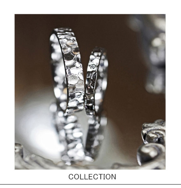 アイス・グラスに浮かぶ氷の表面をイメージした 結婚指輪コレクション