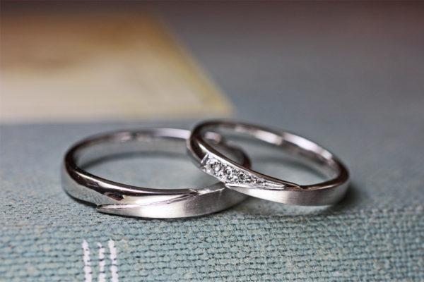 ホワイトゴールドの結婚指輪が14年ぶりに新品仕上げの依頼にて