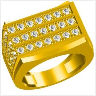 ダイヤモンドのグラフが付いている  メンズ結婚指輪カスタムメイドの結婚指輪