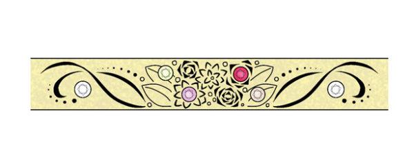 結婚指輪にブーケとダイヤモンドをオーダーメイドするデザイン画 1