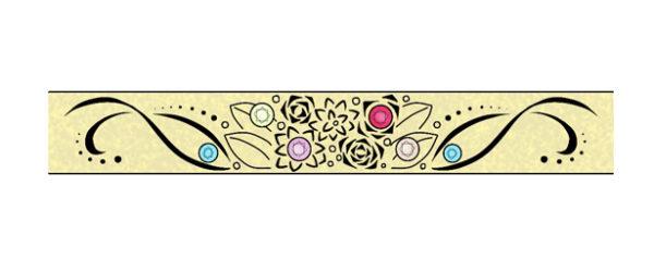 結婚指輪にブーケとダイヤモンドをオーダーメイドするデザイン画 2