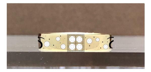 ゴールドのオーダーメイドの結婚指輪のデザイン画・後ろ側デザイン