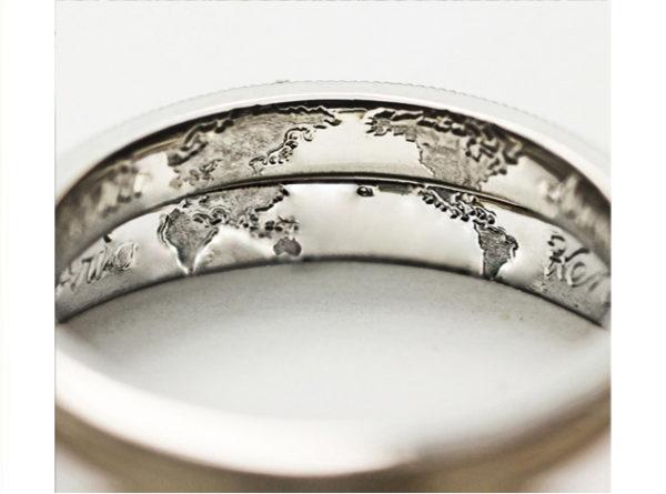 結婚指輪の内側を重ねて世界地図をつくりたい!ー 無料にて