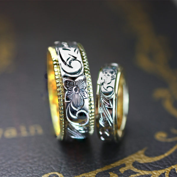 結婚指輪を幅8mmのハワイアン模様でオーダーメイド 2