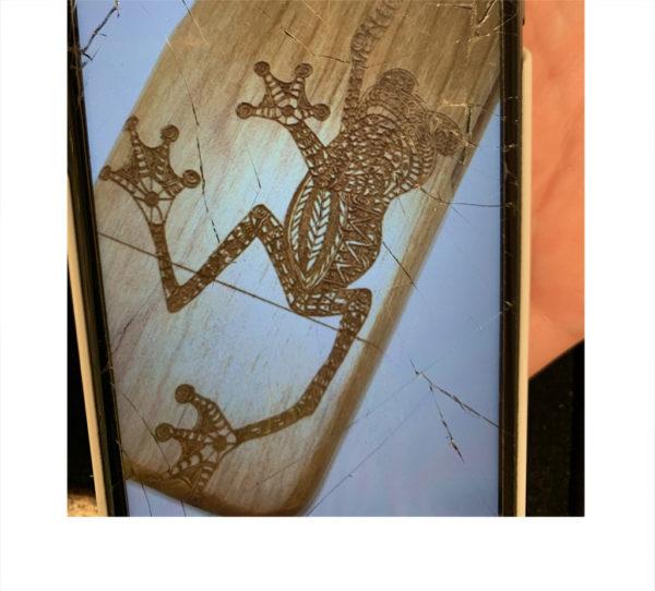 お客様が好きなカエルのモチーフ 1