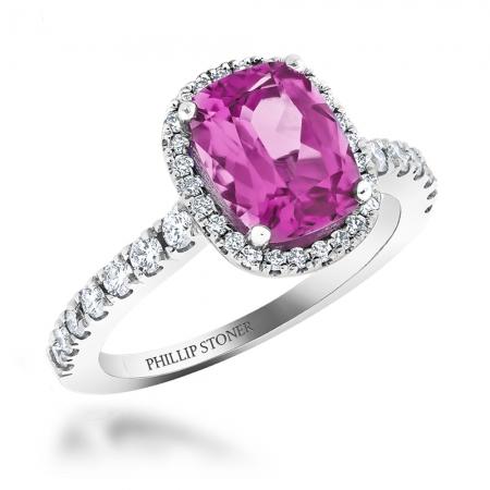ピンクサファイアの婚約指輪